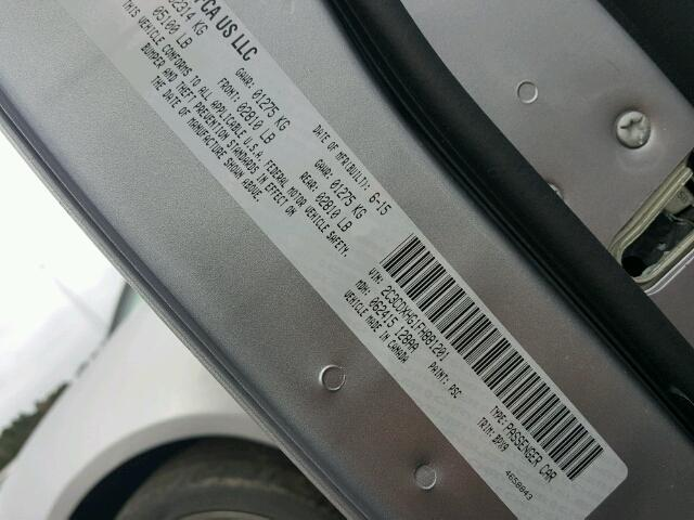 2C3CDXHG1FH881201 - 2015 DODGE CHARGER SX SILVER photo 10