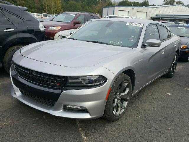 2C3CDXHG1FH881201 - 2015 DODGE CHARGER SX SILVER photo 2