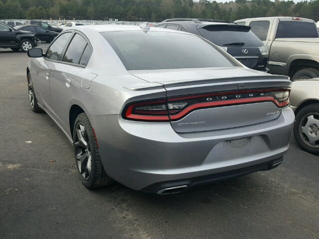 2C3CDXHG1FH881201 - 2015 DODGE CHARGER SX SILVER photo 3