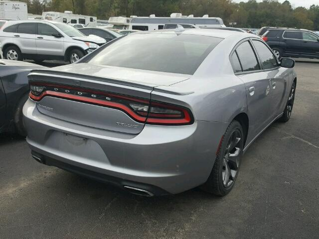 2C3CDXHG1FH881201 - 2015 DODGE CHARGER SX SILVER photo 4
