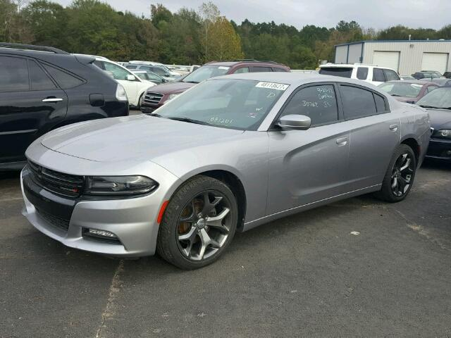 2C3CDXHG1FH881201 - 2015 DODGE CHARGER SX SILVER photo 9