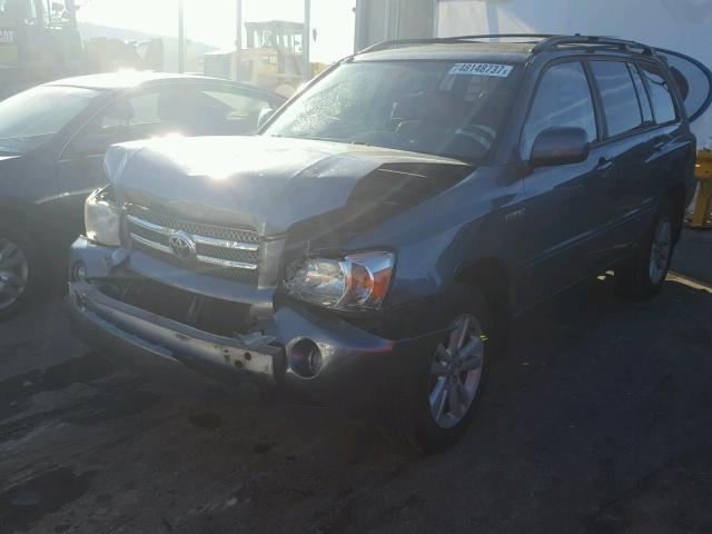 JTEEW21A660029529 - 2006 TOYOTA HIGHLANDER GRAY photo 2