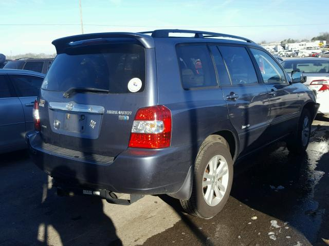 JTEEW21A660029529 - 2006 TOYOTA HIGHLANDER GRAY photo 4