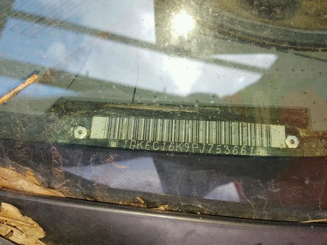 1GKEC16K9PJ753661 - 1993 GMC SUBURBAN C BLACK photo 10