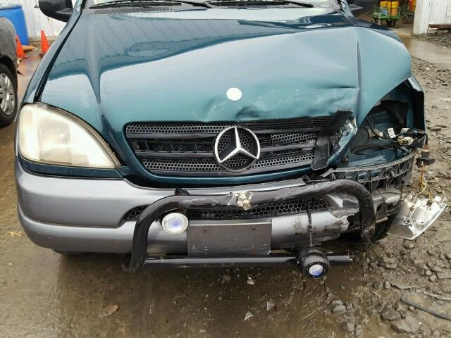 4JGAB54E1WA001111 - 1998 MERCEDES-BENZ ML 320 GREEN photo 7