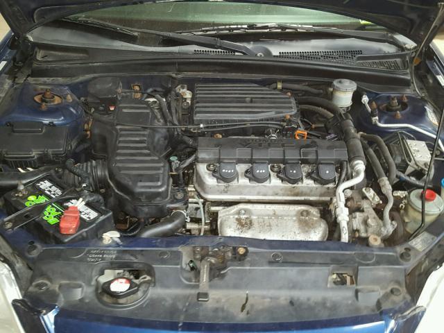 2HGES26713H516062 - 2003 HONDA CIVIC EX BLUE photo 7