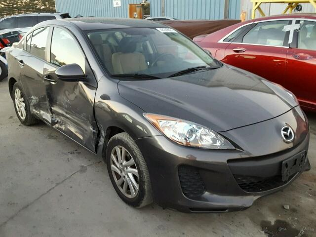 JM1BL1V84C1652753 - 2012 MAZDA 3 I CHARCOAL photo 9