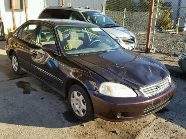 2HGEJ8548YH599266 - 2000 HONDA CIVIC EX BROWN photo 1