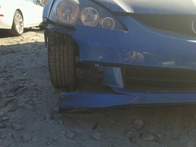 JH4DC54836S004805 - 2006 ACURA RSX BLUE photo 10