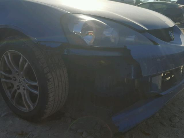 JH4DC54836S004805 - 2006 ACURA RSX BLUE photo 9