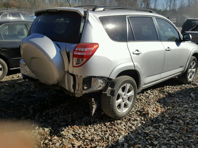 JTMZF31V19D003903 - 2009 TOYOTA RAV4 LIMIT SILVER photo 4