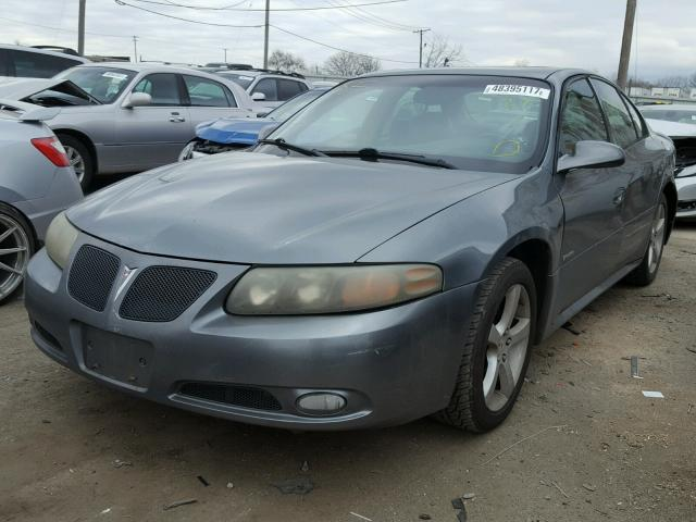 1G2HZ54Y95U208663 - 2005 PONTIAC BONNEVILLE GRAY photo 2