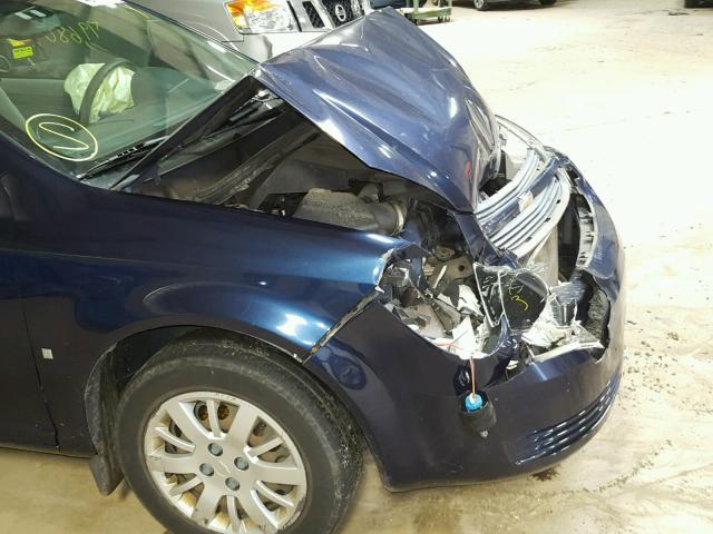 1G1AS18H297188788 - 2009 CHEVROLET COBALT LS BLUE photo 9