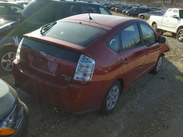 JTDKB20U897864008 - 2009 TOYOTA PRIUS RED photo 4