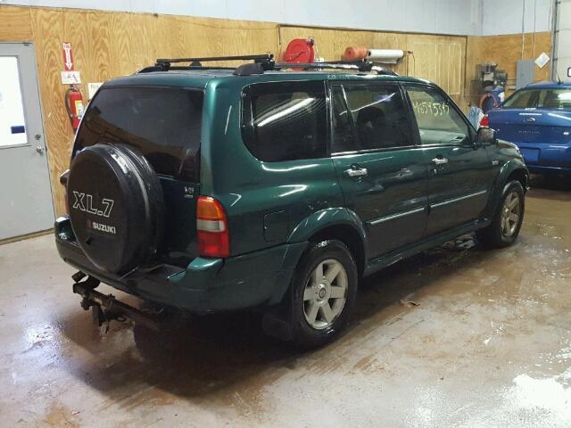 JS3TX92V134115632 - 2003 SUZUKI XL7 PLUS GREEN photo 4