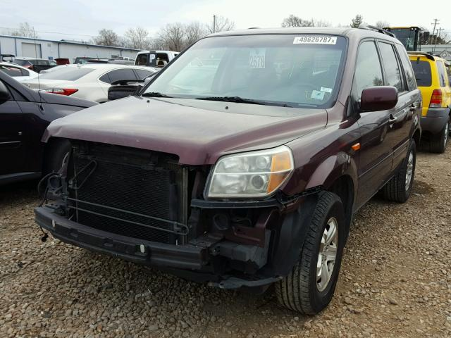 5FNYF18288B040143 - 2008 HONDA PILOT VP PURPLE photo 2