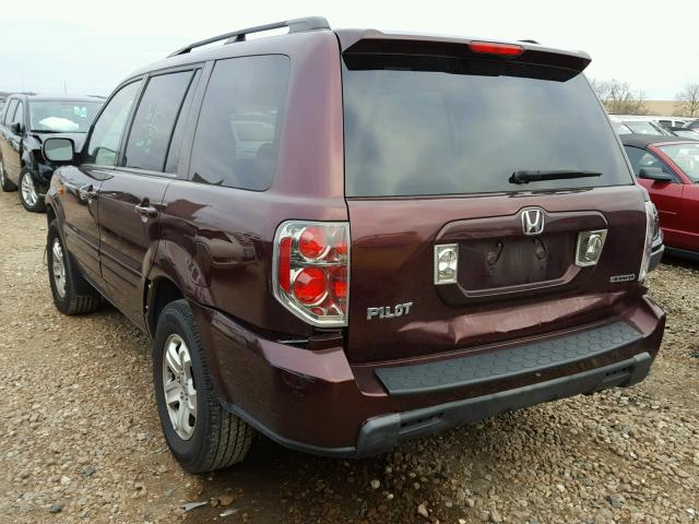 5FNYF18288B040143 - 2008 HONDA PILOT VP PURPLE photo 3