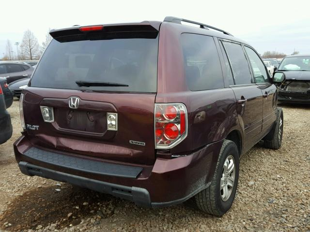 5FNYF18288B040143 - 2008 HONDA PILOT VP PURPLE photo 4