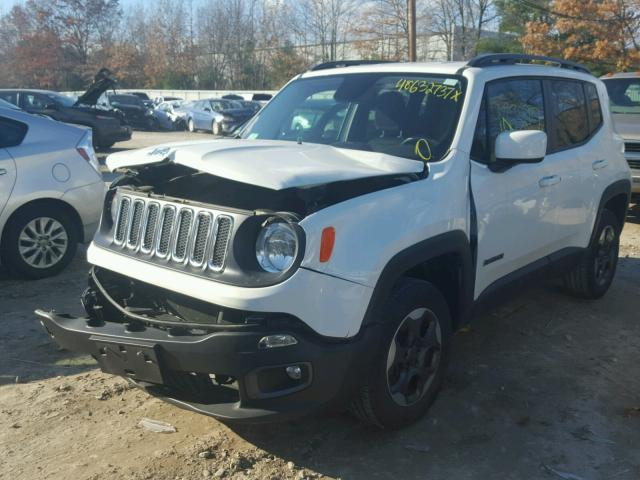 ZACCJBBH1FPB83274 - 2015 JEEP RENEGADE L WHITE photo 2