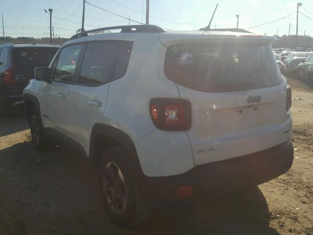 ZACCJBBH1FPB83274 - 2015 JEEP RENEGADE L WHITE photo 3