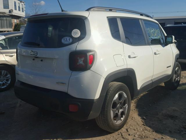 ZACCJBBH1FPB83274 - 2015 JEEP RENEGADE L WHITE photo 4