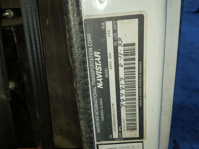 1HTSEAAR9WH521776 - 1998 INTERNATIONAL 4000 4800 WHITE photo 10