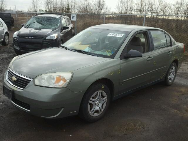 1G1ZS51F16F224653 - 2006 CHEVROLET MALIBU LS GREEN photo 2
