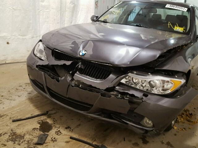 WBAVD13576KV00254 - 2006 BMW 325 XI GRAY photo 9