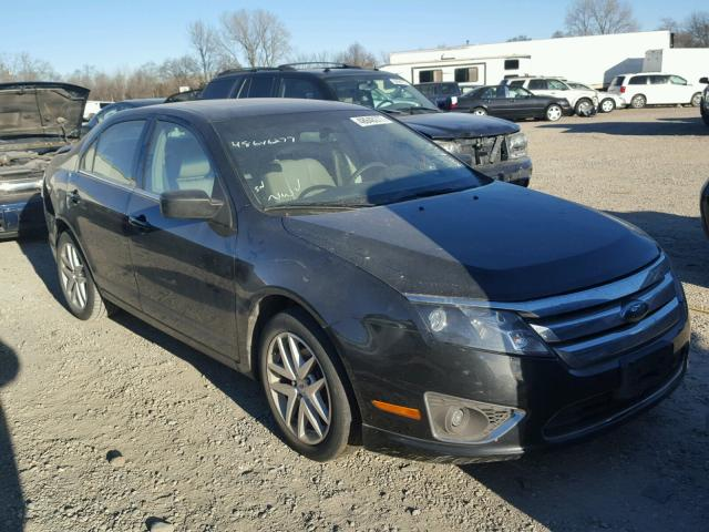 3FAHP0JA2AR238185 - 2010 FORD FUSION SEL BLACK photo 1