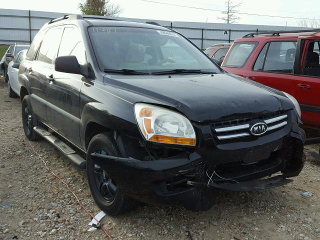 KNDJF723687542399 - 2008 KIA SPORTAGE E BLACK photo 1