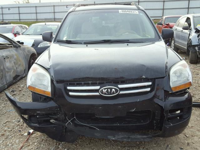 KNDJF723687542399 - 2008 KIA SPORTAGE E BLACK photo 9