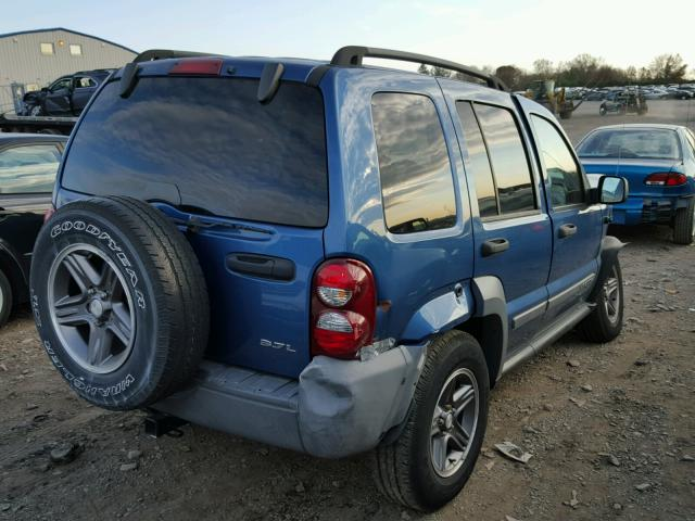 1J4GL48K45W550237 - 2005 JEEP LIBERTY SP BLUE photo 4