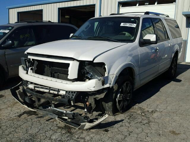 1FMJK2A53AEB08018 - 2010 FORD EXPEDITION WHITE photo 2