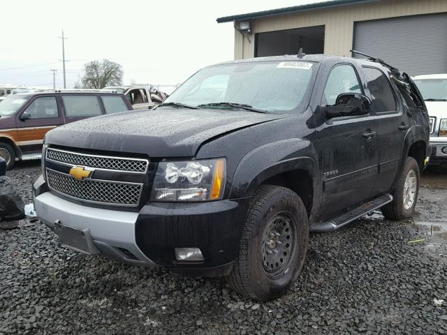 1GNSKBE07ER172446 - 2014 CHEVROLET TAHOE K150 BLACK photo 2