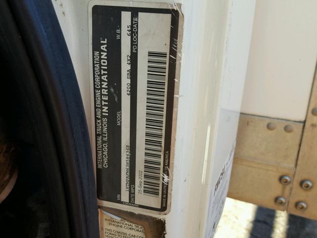 1HTMPAFM63H586368 - 2003 INTERNATIONAL 4000 4200 WHITE photo 10