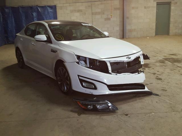 5XXGR4A65EG333685 - 2014 KIA OPTIMA SX WHITE photo 1