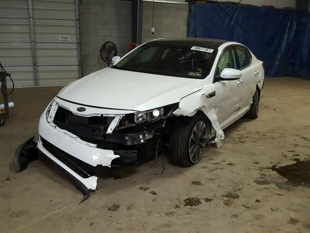 5XXGR4A65EG333685 - 2014 KIA OPTIMA SX WHITE photo 2