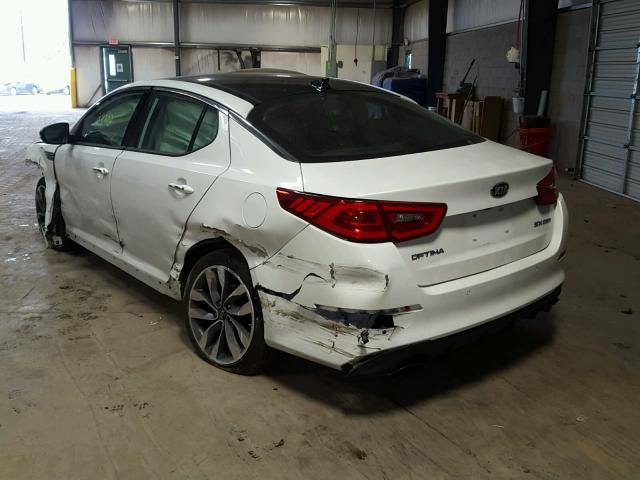 5XXGR4A65EG333685 - 2014 KIA OPTIMA SX WHITE photo 3