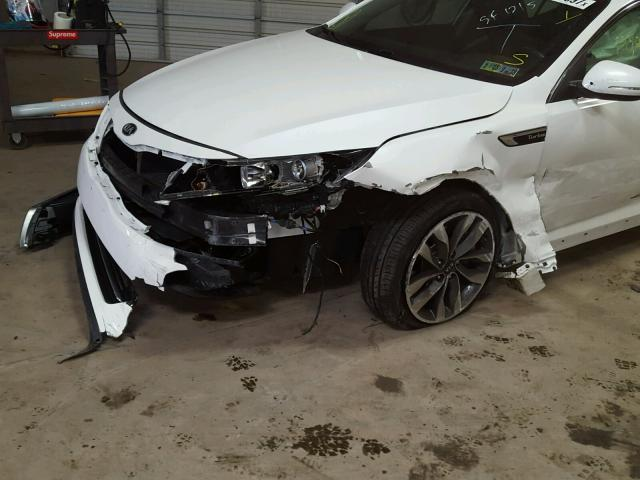 5XXGR4A65EG333685 - 2014 KIA OPTIMA SX WHITE photo 9
