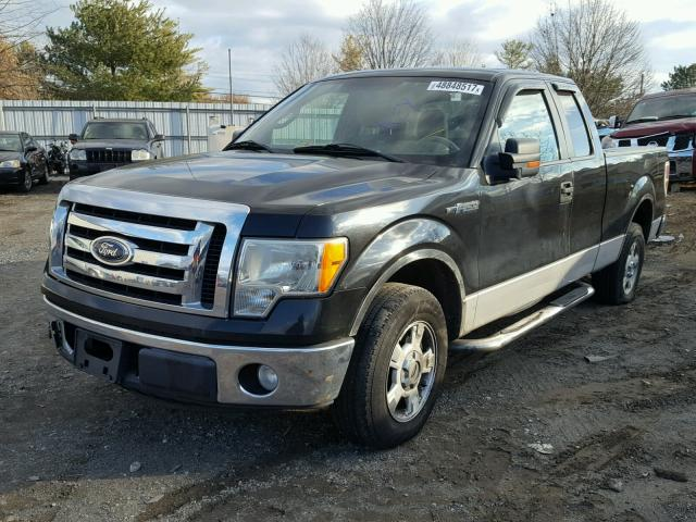 1FTEX1C89AKA48515 - 2010 FORD F150 SUPER BLACK photo 2
