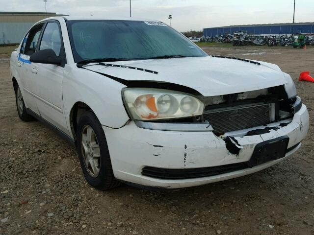 1G1ZT52845F256556 - 2005 CHEVROLET MALIBU LS WHITE photo 1