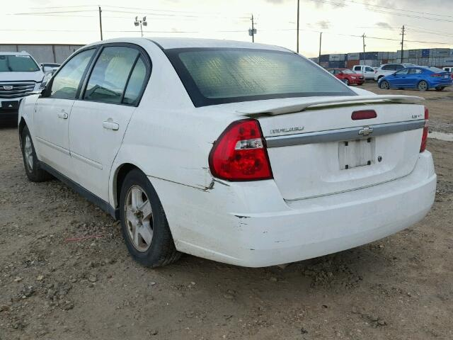 1G1ZT52845F256556 - 2005 CHEVROLET MALIBU LS WHITE photo 3