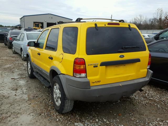 1FMYU04161KB60993 - 2001 FORD ESCAPE XLT YELLOW photo 3