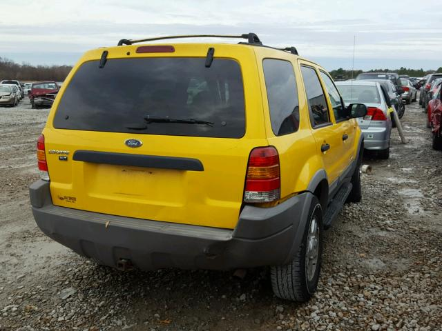1FMYU04161KB60993 - 2001 FORD ESCAPE XLT YELLOW photo 4
