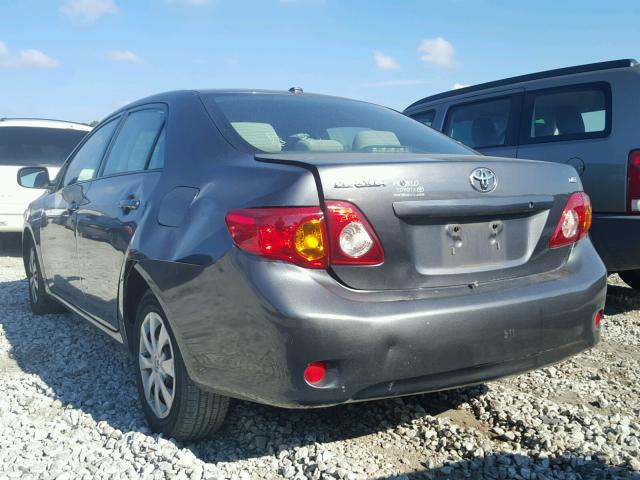 JTDBU4EE9AJ070357 - 2010 TOYOTA COROLLA BA GRAY photo 3