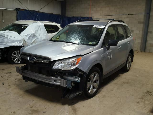 JF2SJABC3FH526413 - 2015 SUBARU FORESTER 2 SILVER photo 2