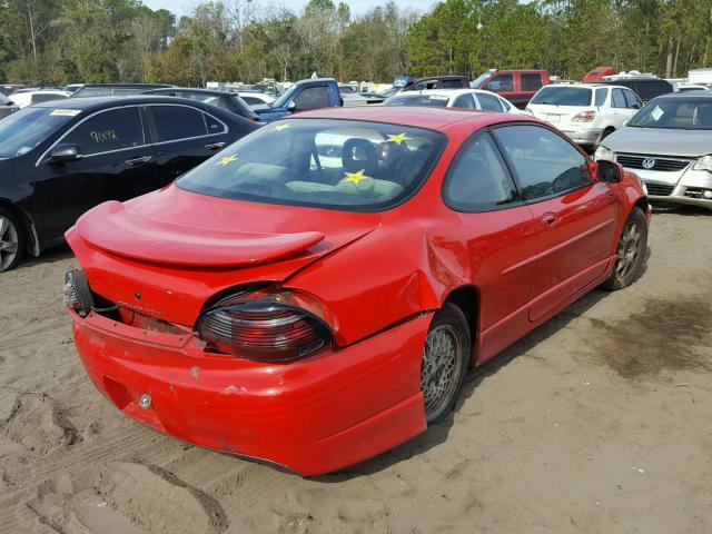 1G2WP12K5XF258679 - 1999 PONTIAC GRAND PRIX RED photo 4
