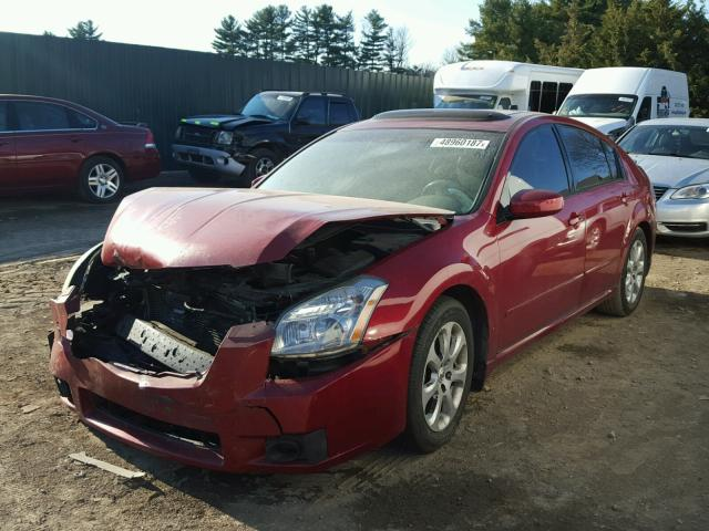 1N4BA41E88C811407 - 2008 NISSAN MAXIMA SE RED photo 2