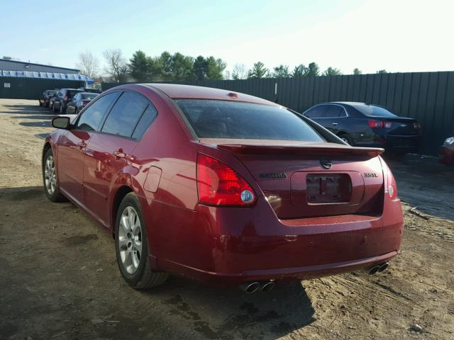 1N4BA41E88C811407 - 2008 NISSAN MAXIMA SE RED photo 3