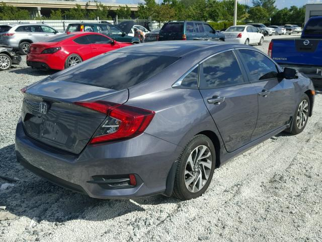 19XFC2F75GE065154 - 2016 HONDA CIVIC EX GRAY photo 4